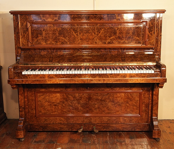 marbled upright piano