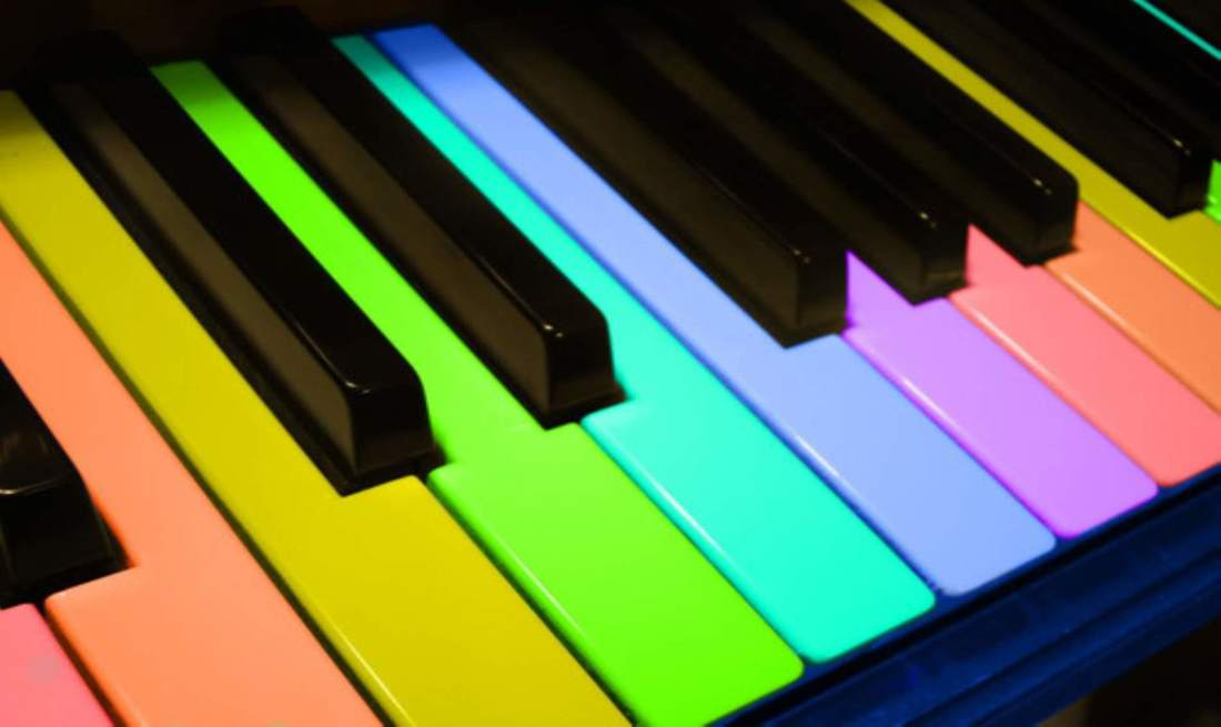 Piano tuning color keys
